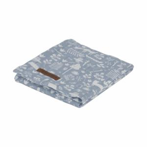 Little Dutch - swaddle doek 120 x 120 cm Adventure blue