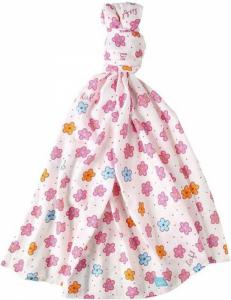 Lief! lifestyle swaddle/hydrofieldoek 120x120cm roze bloem