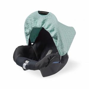 Jollein zonnekapje 0 tot 9 maanden stoel Diamond knit vintage green