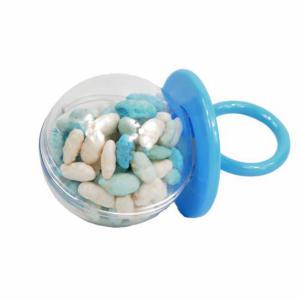 Themasnoep - Speen manna blauw/wit