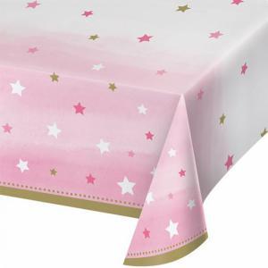 Tafelkleed Twinkel Twinkel star roze