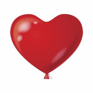 Hart ballon rood 10 stuks