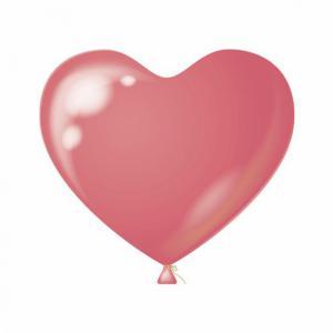 Hart ballon roze 10 stuks