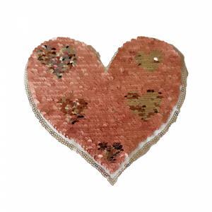 Applicatie - Hartje met kleine hartjes omkeerbaar.