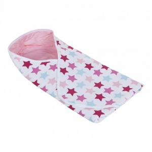 Little Dutch - Wikkeldoek Mixed stars pink