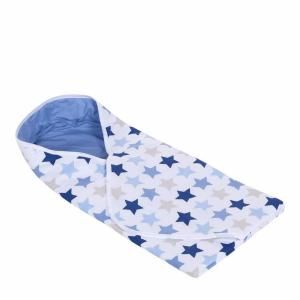 Little Dutch - Wikkeldoek mixed stars Blue