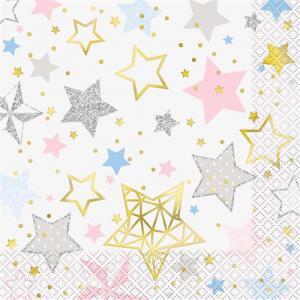 Twinkle star- servetten 16 stuks