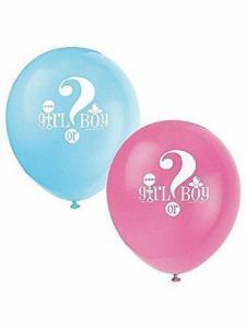 Girl or Boy ballonnen 8 stuks
