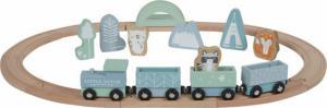 Little Dutch - houten trein met wagonnetjes Adventure Blue