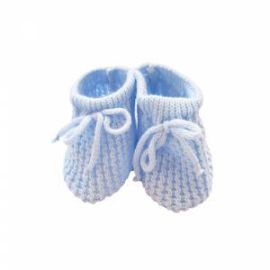 Slofjes - gebreid blauw