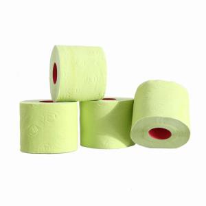 Gekleurde rol toiletpapier groen prijs is per stuk