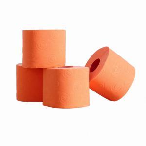 Gekleurde rol toiletpapier oranje prijs is per stuk