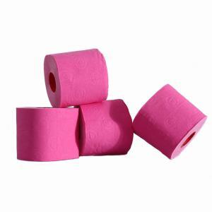 Gekleurde rol toiletpapier roze prijs is per stuk