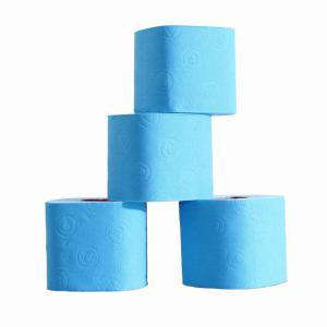 Gekleurde rol toiletpapier blauw prijs is per stuk