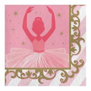 Feestartikelen Ballerina servetten 16 stuks