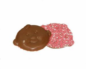 Themasnoep - Chocolade babysnoetjes roze per stuk