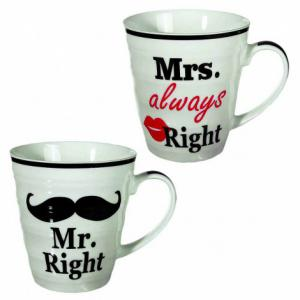 Mrs Always Right en Mr Right huwelijk mokken