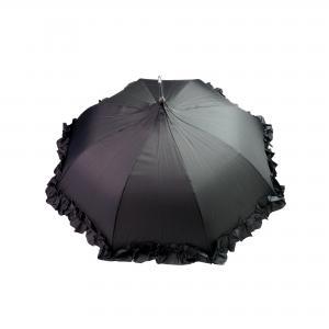 Dames paraplu met roesjes - zwart