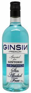 GinSin Botanic Alcoholvrije drank kleur BLAUW 70cl
