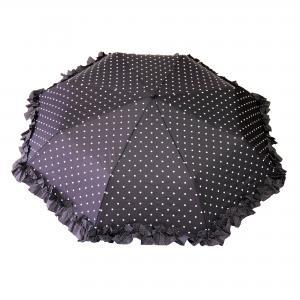 Dames paraplu opvouwbaar - zwart/wit