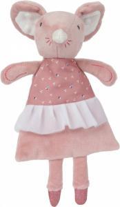 Tiamo knisper/knuffeldoekje Balletmuis 28 cm Roze