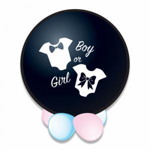 Gender reveal feestartikelen Ballon Boy 61cm inclusief blauwe confetti