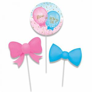 Gender Reveal centerpiece sticks 3-stuks