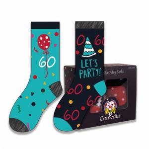 Verjaardag sokken 60 jaar kleur (2 paar)