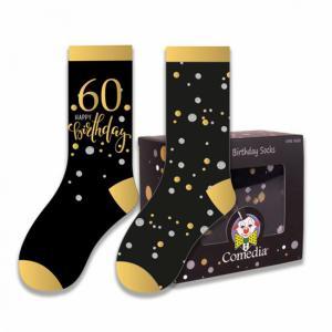 Verjaardag sokken 60 jaar goud (2 paar)