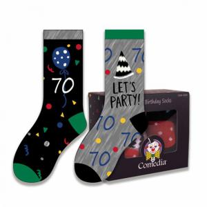 Verjaardag sokken 70 jaar kleur (2 paar)
