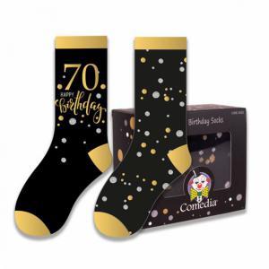 Verjaardag sokken 70 jaar goud (2 paar)
