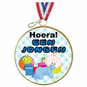 Chocolade Medaille Hoera Een Jongen