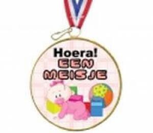 Chocolade medaille Hoera een dochter