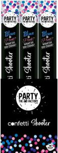 Party confetti shooter BLAUW 40 cm