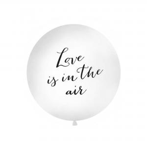 XXl Ballon kleur wit met tekst Love is in the air