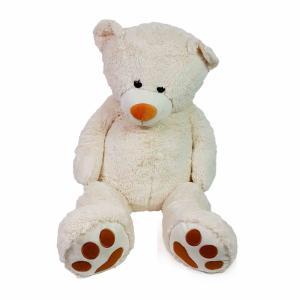 Knuffelbeer XL roomkleur met bruine voeten
