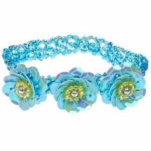 Armband elastisch kleur blauw merk Souza