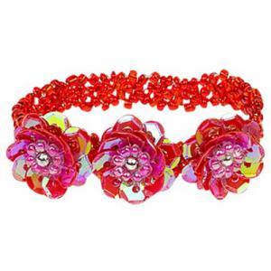 Armband elastisch kleur rood merk Souza