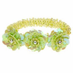 Armband elastisch kleur groen merk Souza