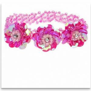 Armband elastisch kleur donker roze merk Souza