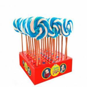 Themasnoep - spiraallolly 7 cm blauw prijs is per stuk