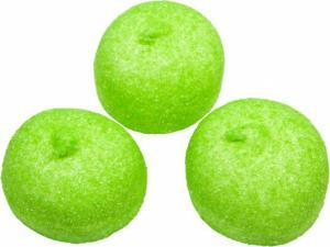 Themasnoep - spekbollen kleur groen prijs is per stuk