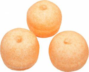 Themasnoep - spekbollen kleur oranje prijs is per stuk