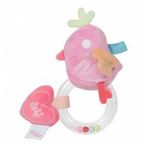 Lief! Lifestyle ring rammelaar roze vogeltje