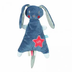Lief! Lifestyle Knuffelkonijn blauw  24cm