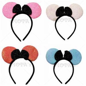 Diadeem-Mickey oren kleur BLAUW (ook te verkrijgen in wit,roze en mandarijnrood)