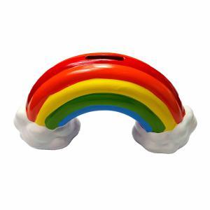 Spaarpot regenboog met wolkje