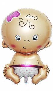 Folie ballon baby meisje 79 cm