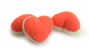Themasnoep - Suiker jelly hartjes leuk voor Valentijn  100gram