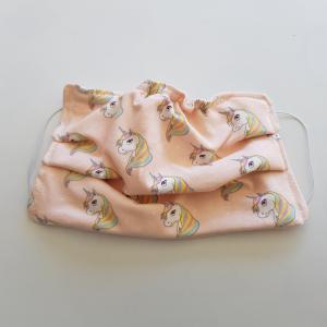 Mondkapje kind - unicorn roze